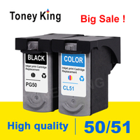 Toney King Ink Cartridge for canon PG50 PG 50 Compatible IP2200 IP2400 MP150 MP160 MP170 MP180 MP450 MP460 Printer cartridges