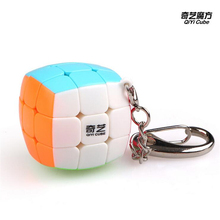 Newest QiYi Mini Keychain Puzzle Cube 3cm 3x3x3 Twist Magic Toys Gift Smart Key Ring Decoration Cute