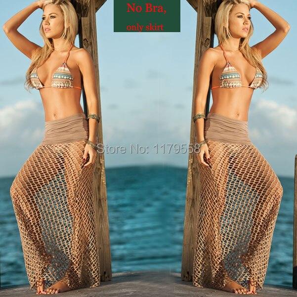 New Women Bikini Beachwear Swimsuit Coverup Beach Skirt Long Lace