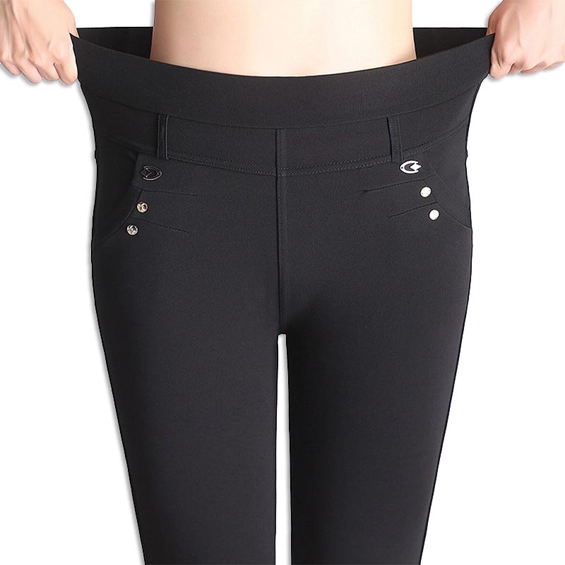Iyasen Lady Magic Pants Ladies Warm Leggings Vintage Slim Long Bodycon Feet Leggings Women High Stretch Office Pencil Pants