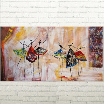 Hand Painted Ballet Dancer Palette Knife oil painting Canvas Art Framed Art Modern Art Abstract Art Impasto Texture