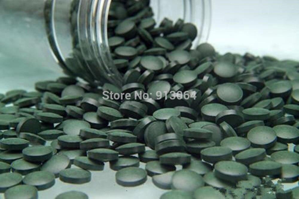 Export quality 0.25g*800pill 200g Anti-fatigue Anti-radiation Enhance-immune natural organic Spirulina Tea Tablet rich vitamin