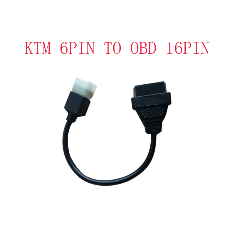 ktm 6 pin to obd 16 pin adapter cable for tuneecu software to motorcycle  motorbikes ecu