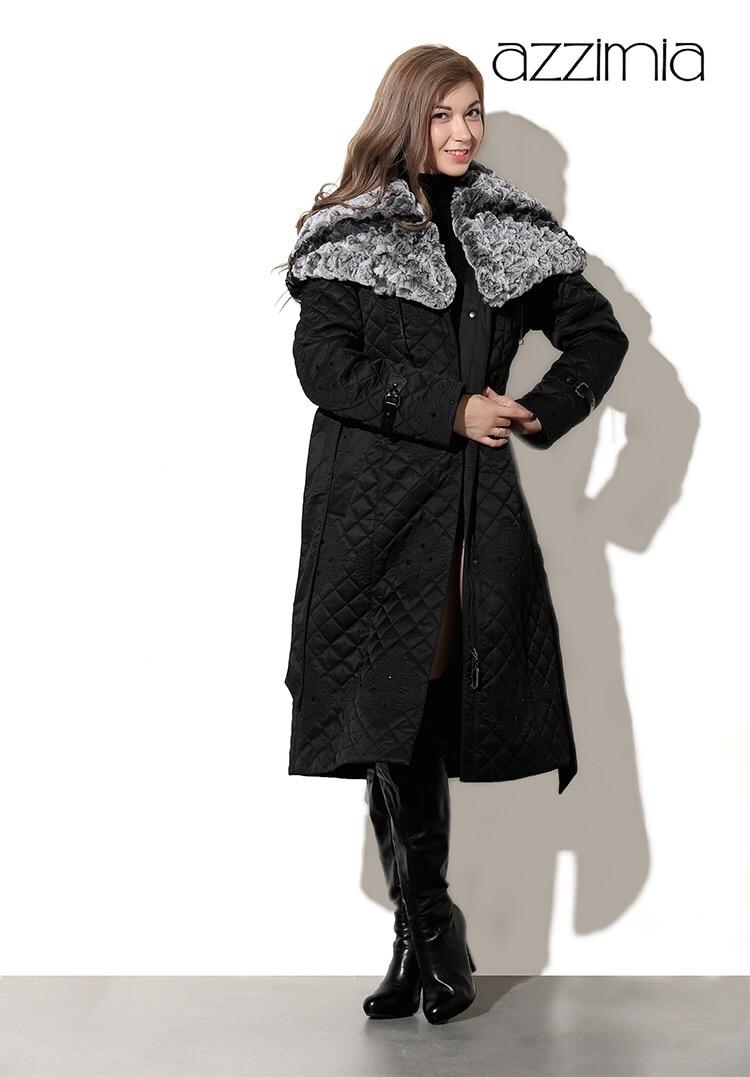Hiver Col Nouvelle Qualité Chapeau Azzimia Chaud M Grand Et Lapin Parka Haute De 4xl Pour Rex Femmes 2016 Tissage Femelle Manteau qxnAXwFC