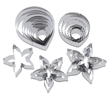 23pcs/lot Stainless Steel Cutter Designer DIY Polymer Clay Tools Rose Patel Leaf Calyx Mold Cutting Die Clay Tools все цены