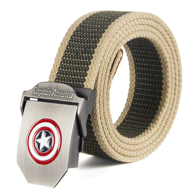 Captain America Buckle With Belt Knit Canvas