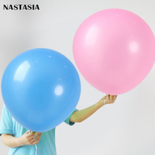 NASTASIA Inferior smooth round balloon 24-inch 10pcs/lot  thickened with colorful latex float wedding party decoration
