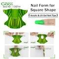 Pro 300 pcs/roll-Plane Forma Gel Auto-adesivas Formulário Prego para Extensão de unhas Nail Art Ferramenta de Beleza adesivos Frete Grátis