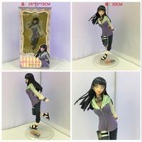 20cm Instock Naruto Uzumaki Naruto Hyuuga Hinata Keychain Action Figures Anime PVC brinquedos Collection Model toys