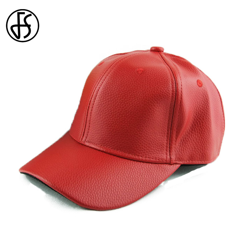 Prix pour Chapeau d'été pour les femmes mode russie snapback hip hop baseball Cap PU En Cuir Chapeau Visière Réglable Casquette Rouge Os Équipée chapeaux