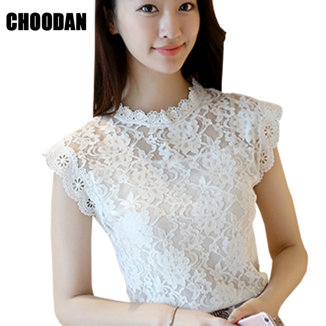 05400de7c848b Lace Blouse Shirt Women Summer Style Blouses 2018 New Korean Sleeveless  Solid Hollow Out Pink Blue White Black Lace Top Female