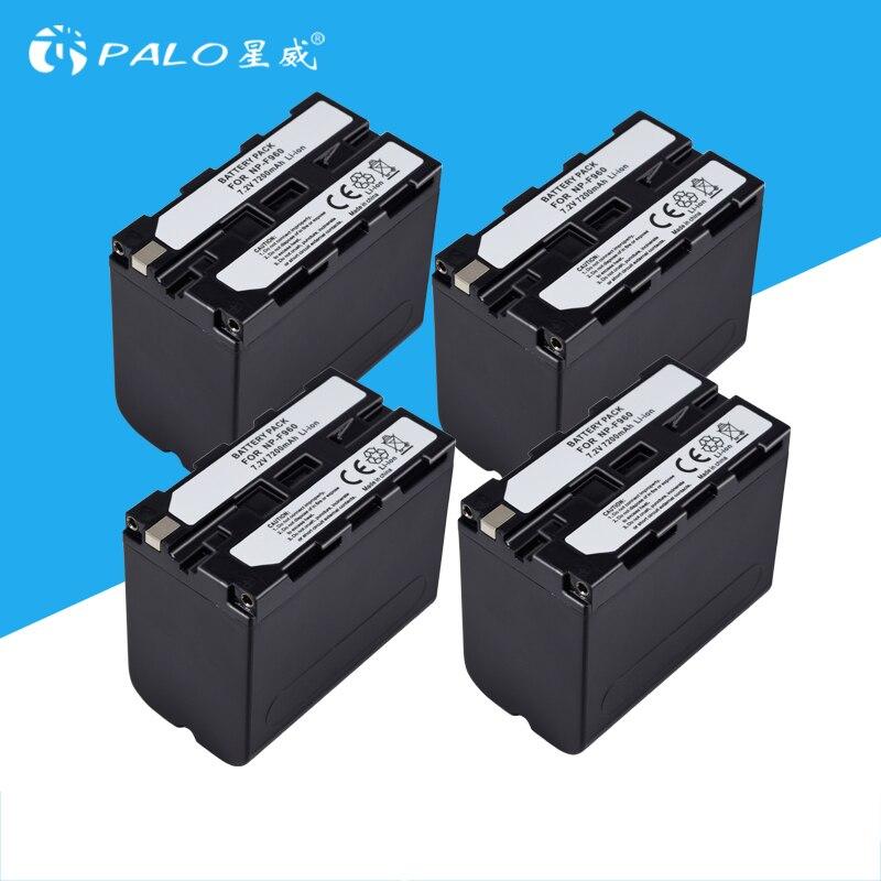 4 pcs 7200 mah NP-F960 NP-F970 NP F960 NP F970 Caméscope batterie Pour Sony NP-F550 NP-F770 NP-F750 NP F770 NPF960 NPF970 Gros
