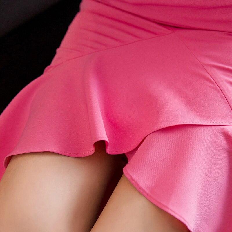 Flounce Waist 2016 Slim Skirts New Color Ruffles Hip Asymmetrical Medium High Skirt Bag Fishtail Solid Long Women's qEwr8RE