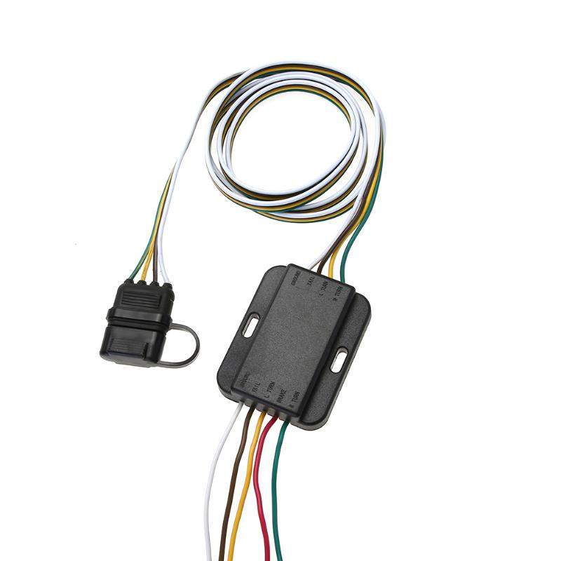 цена на 4 Pin 12V US Trailer Hitch Wiring Tow Harness Power Controller Plug American Modified Trailer Plug for for Trailers, RVs