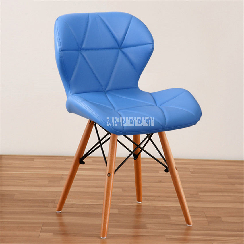 Деревянный стул для отдыха, современный креативный стул для гостиной, простой бытовой обеденный стул для кофе, офисное компьютерное кресло с спинкой - Цвет: G