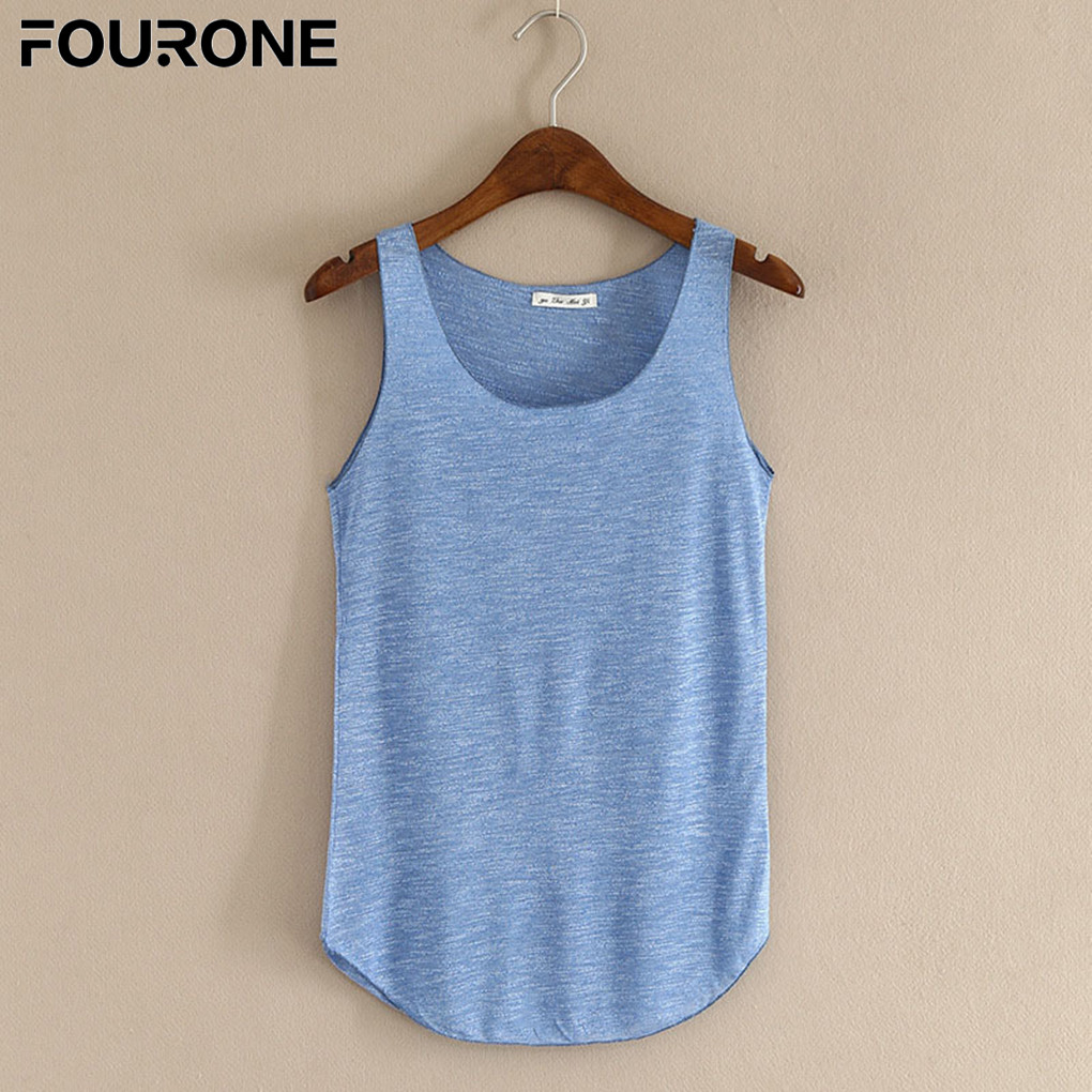 Summer   Tank     Top   For Women 2019 Crop   Tops   Female Vest Bamboo Cotton Women U Vest Loose Ladies Solid Color   Tops