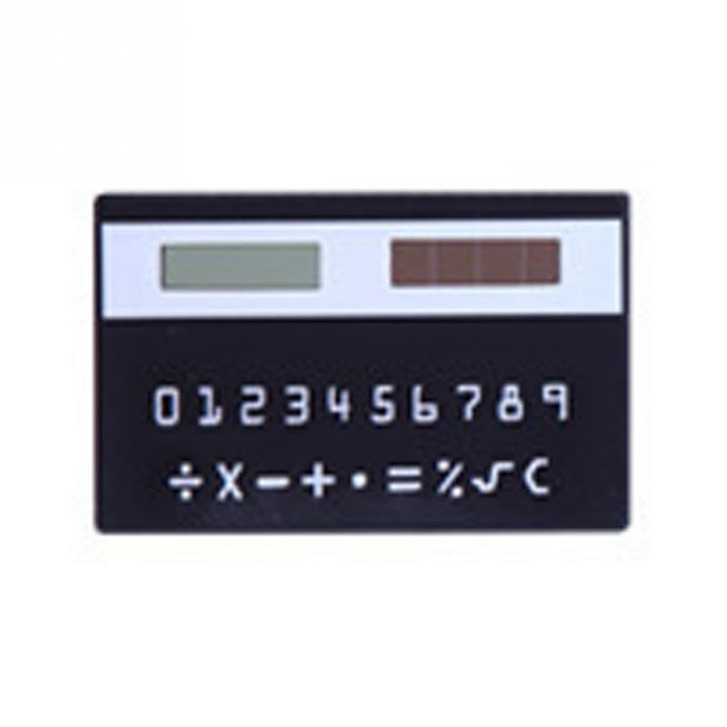 dünnen 8-digits taschenrechner sonnenenergie karte handheld kleine slim ultra