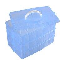 -Layers Có Thể Tháo Rời DIY Lưu Trữ Để Bàn Hộp Nhựa Trong Suốt Hộp Lưu Trữ Trang Điểm Trường Hợp Craft Container Cho Đồ Chơi Nhẫn Trang Sức