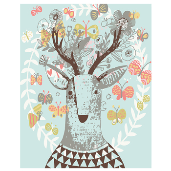 Needlework DIY DMC cross stitch painting 14CT unprinted Little elk embroidery Counted Cross-Stitch cotton thread christmas 1012