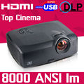 2016 New 300inch Home Theater HDMI 300inch 7000ANSI Outdoor video  1080p full HD DLP Projector Proyector beamer