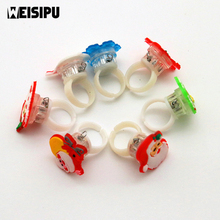 Christmas Decoration Gift New Shiny Flash Ring Child Cartoon Toy Halloween Color Change LED Finger Light