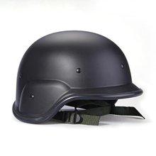 Militare tattico Swat casco nero protector cinghie casco regolabile