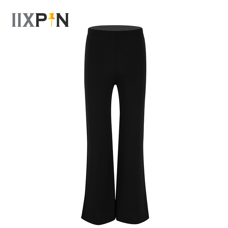 Kids Boys Jazz Pants Ballroom Jazz Basic Classic Stretchy Boot Cut Pants Trousers Dancewear For Jazz Dance Stage Performance