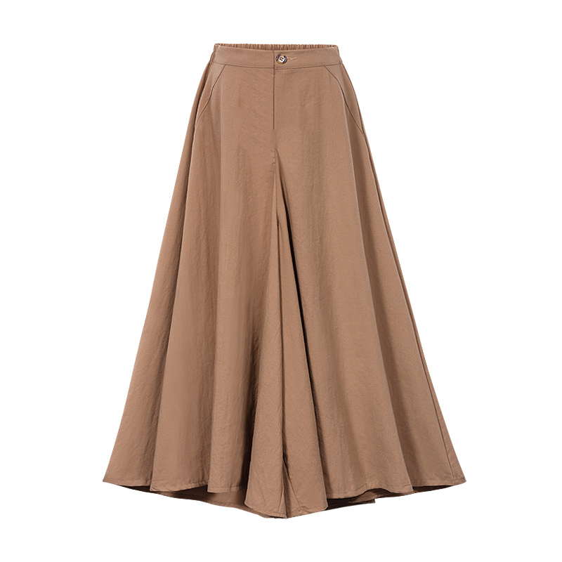 New 2018 Autumn European Style Plus Size 4XL Women Trousers Cotton Linen Loose Wide Leg   Pants   Casual Elastic Waist Ladies   Capris