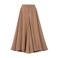 New 2018 Autumn European Style Plus Size 4XL Women Trousers Cotton Linen Loose Wide Leg   Pants   Casual Elastic Waist Ladies   Capris