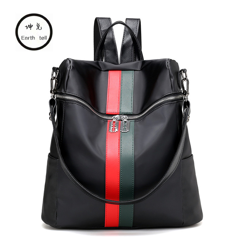 KUNDUI Multifunction women backpack fashion youth korean style shoulder bag laptop Stitching schoolbags for teenager girls