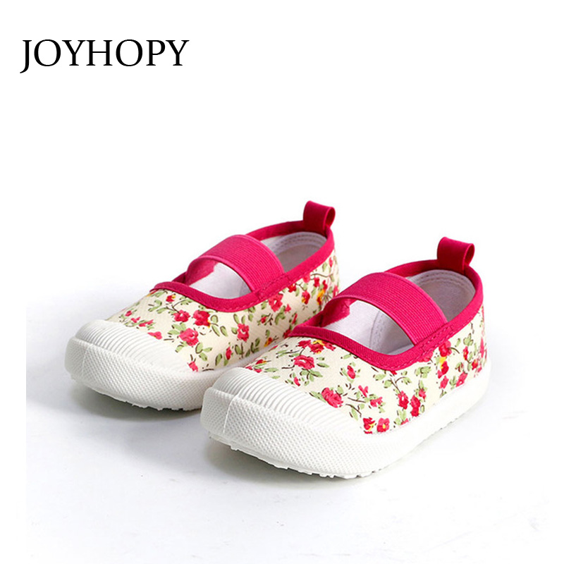 JOYHOPY Children Shoes sneakers 2017 spring kids shoes toddler Girls canvas shoes Size 21-30 Baby Girl Sport Shoes