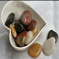 Smart 1 Pounds Polished Natural Stones Assorted Mix Colorful Polishing Stone For Flower Pots Garden