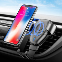 Suitable For 4.7 6 Inches Auto Mobile Phones Adjustable Cell Phone GPS Navigation Wireless Charger Gravity Bracket Accessories