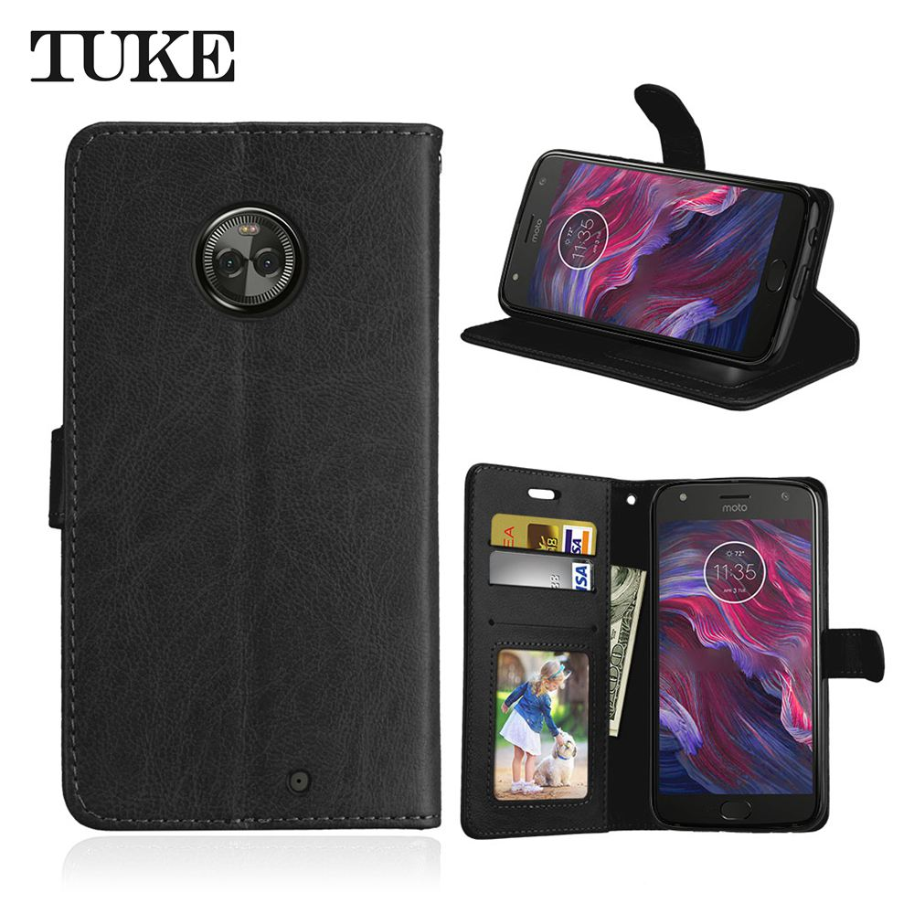 Brand TUKE Case for <font><b>Motorola</b></font> <font><b>Moto</b></font> X4 Case Cover for <font><b>Motorola</b></font> <font><b>Moto</b></font> <font><b>XT1900</b></font> X 2017 (4th gen) Leather Cover Flip Silicon Coque image