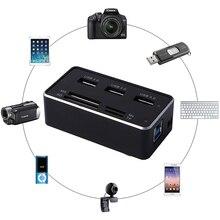 Многофункциональный Все-в-1 Кард-Высокая Скорость Карта USB Концентратор USB 3.0 7 Слотов USB Combo