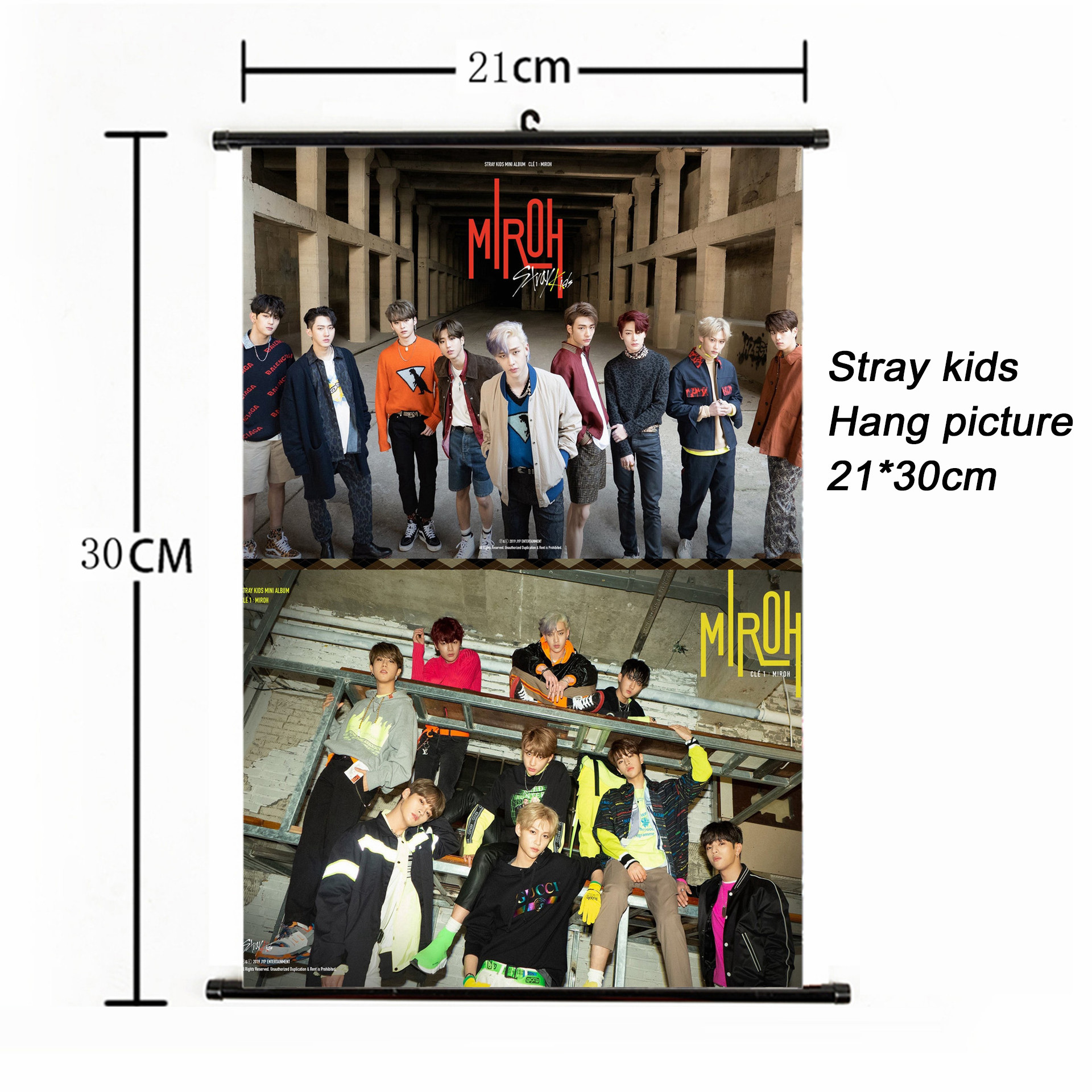 Fashion Kpop Stray Kids Hang painting 21 30cm poster stray kids album photocard kpop poster for fans collection stationery set in Stationery Set from Office School Supplies
