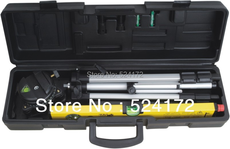 ФОТО Electronic Laser Line Level Promotion 400mm Laser spirit Level Kit with tripod stand Portable Toolcase  32501