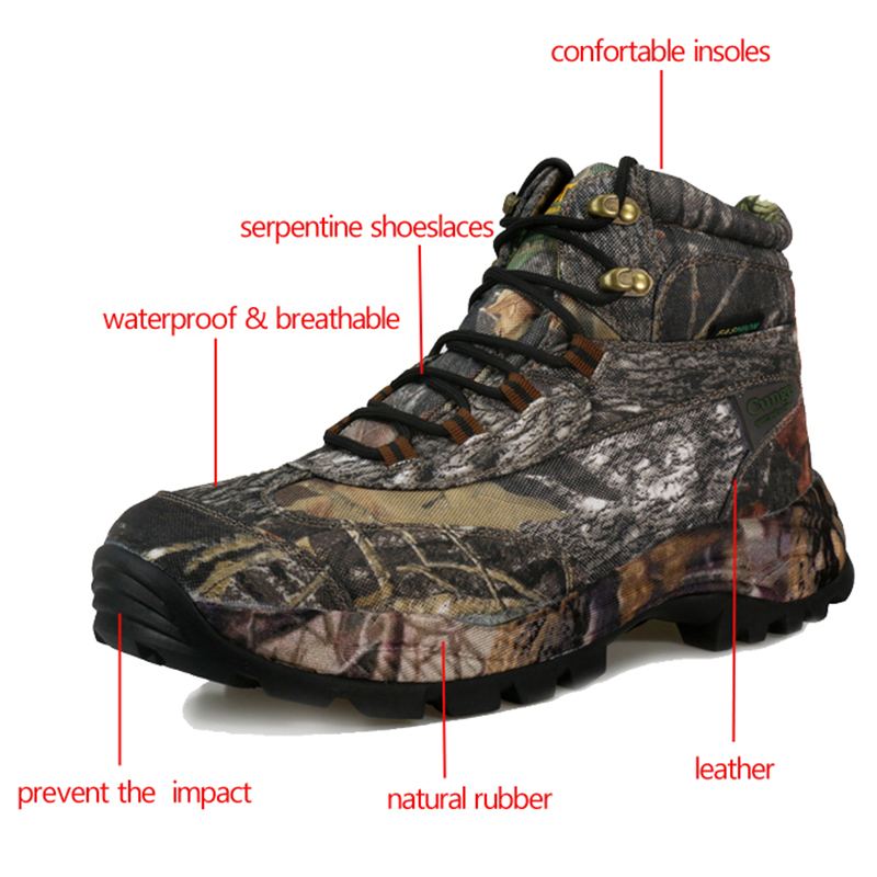 Hommes chaussures de randonnée imperméable à l'eau de haute qualité Force spéciale militaire tactique désert Combat bottines armée travail bottes Camouflage    3