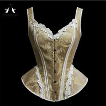 625345d1918 TOPMELON Victorian Corset Elegant Steampunk Overbust Corsets Lace Floral  Pattern Bustier Tops Slimming Costume for Women