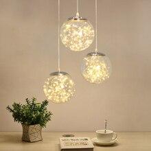 Norbic креативный прозрачный стеклянный шар, подвесной светильник, домашний декор, столовая, лофт, светящийся червь, светодиодный подвесной светильник
