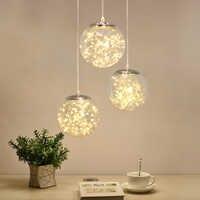 Norbic creativo sfera di vetro trasparente del pendente apparecchio di illuminazione per la casa deco sala da pranzo loft glowworm LED Stringa di lampada a sospensione