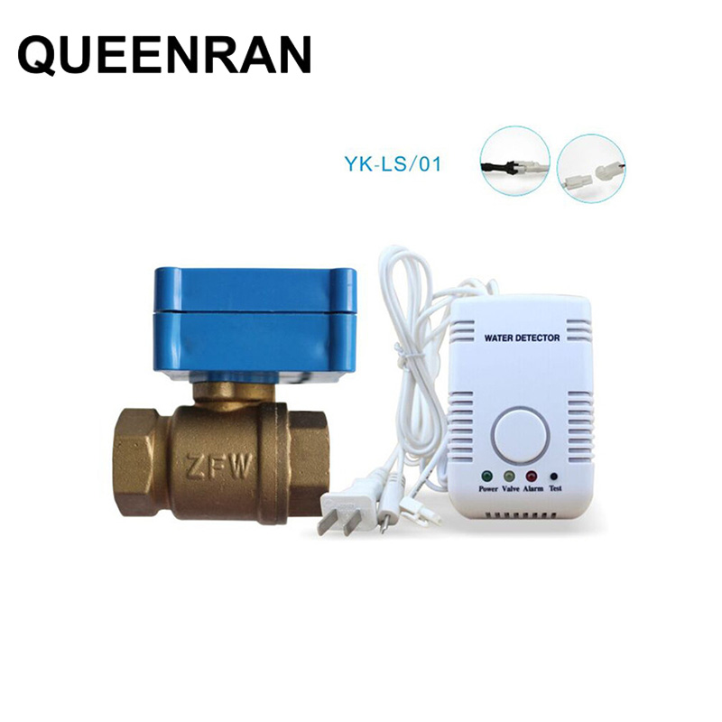 Smart Home Water Alarm Detector Russian Water Leak Sensor Alarm System with Water Probe and Motorized Valve Auto Shut Off|system|system alarm|  - title=