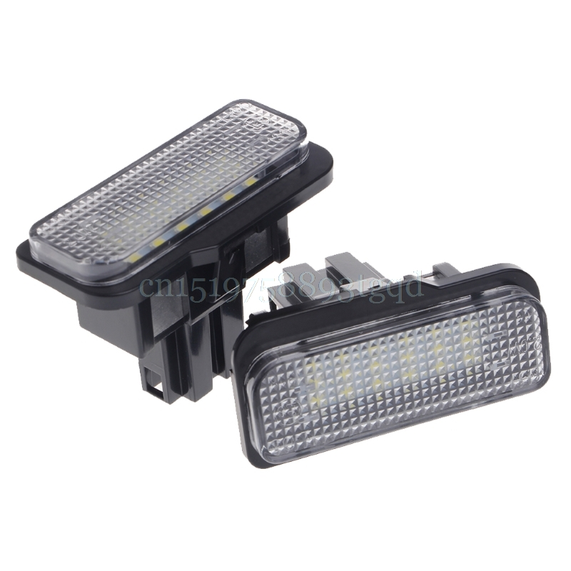 2 Pcs 18 LED SMD No Error License Plate Light For Benz W203 W211 W219 R171 New#T518# 2pcs xenon white license plate led light no error for mercedes benz w203 w211 w219