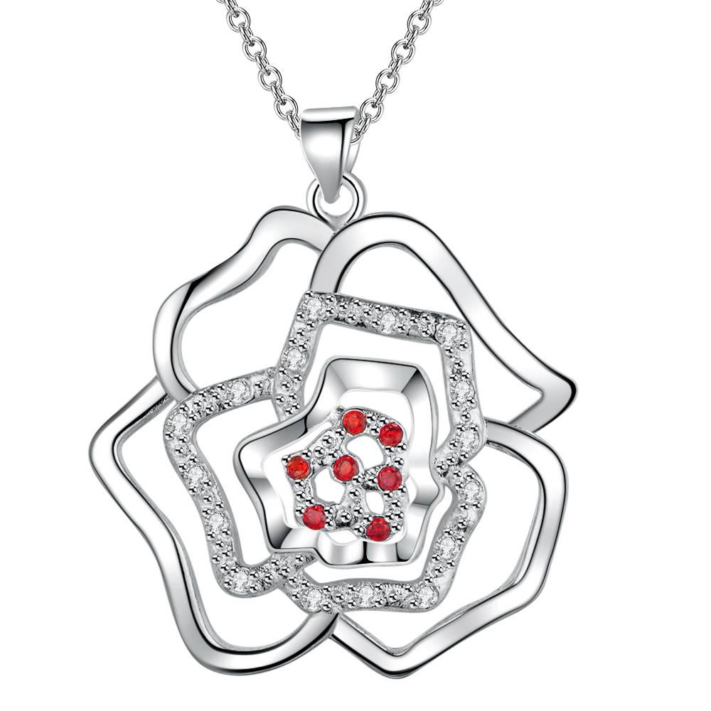 46b6748cef901e Chaude en gros argent plaqué charme jewelrys Collier, livraison gratuite  925 estampillé bijoux de mode pendentif AN1850/dinalzua