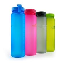 1000 ML Botellas de Agua Portable Del Deporte Tritan Matorrales Deportes Camping Viaje Drinkware Mi Coctelera leche Té Botellas