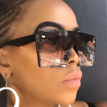 CURTAIN 2019 Sexy Oversized Square Sunglasses Women Luxury Brand