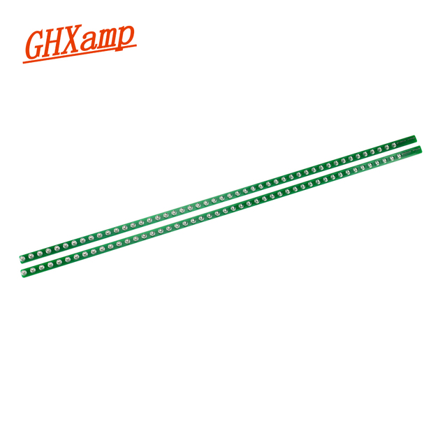 GHXAMP Dual 48 Audio Level Indicator Light Bar LED Music Spectrum VU Meter MP3 Computer Two Channel Green 500MM*10MM