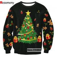 2017 Autumn And Winter Snowman 3D Printed Men Women Casual Sportweat Merry Christmas Sweatshirt Crewneck Pullovers