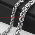 """6/8mm 316L Stainless Steel Necklaces Bracelet Byzantine Chain New Mens Jewelry Top Fashion Cool Gift, Wholesale Or Retail 7-40"""""""