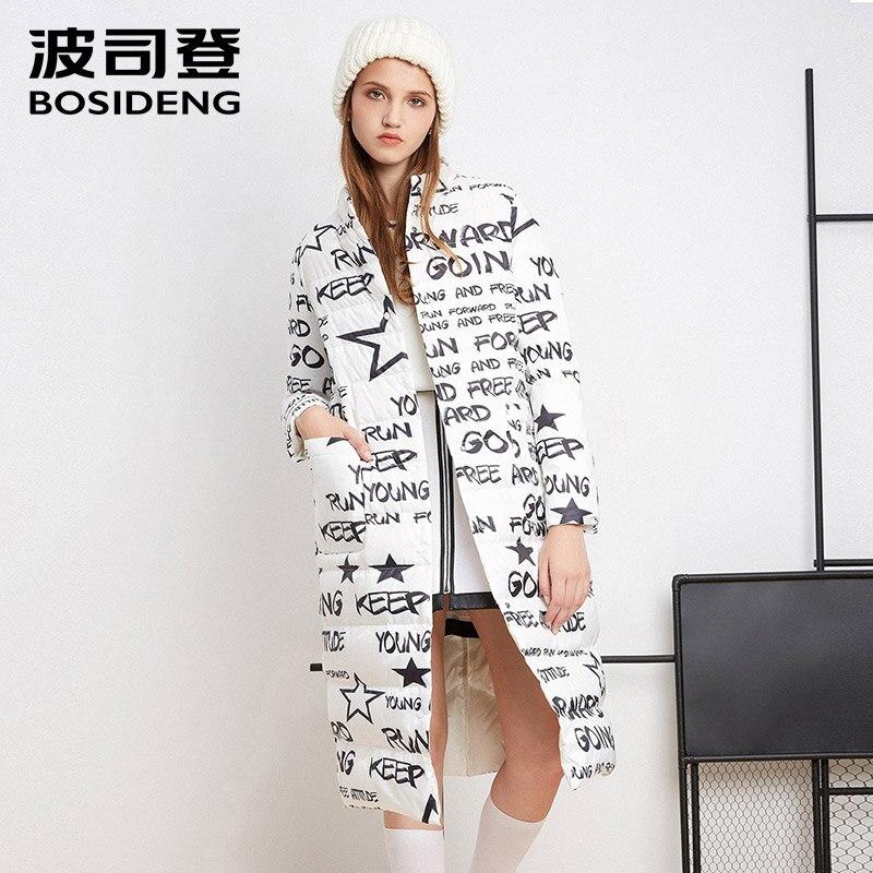 BOSIDENG women's clothing winter X-LONG down coat female winter down jacket X-long outwear reversible wear coat B1601508